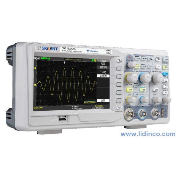 Máy hiện sóng, Oscilloscope Siglent SDS1202CFL, 200 MHz, 2 CH