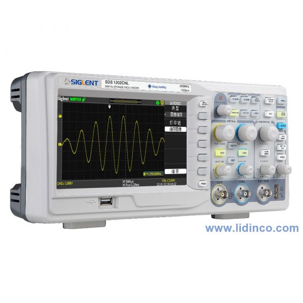 Digital Oscilloscope Siglent SDS1202CFL, 200 MHz, 2 Channel