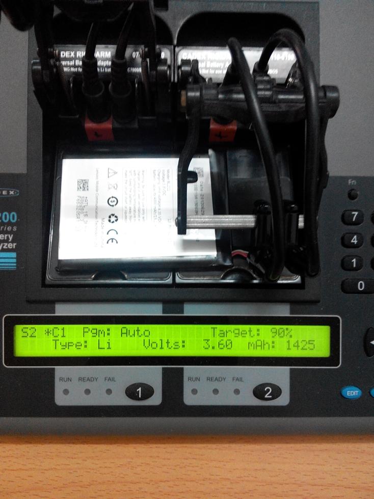 kiểm tra dung lượng pin lenovo p706  bằng cadex