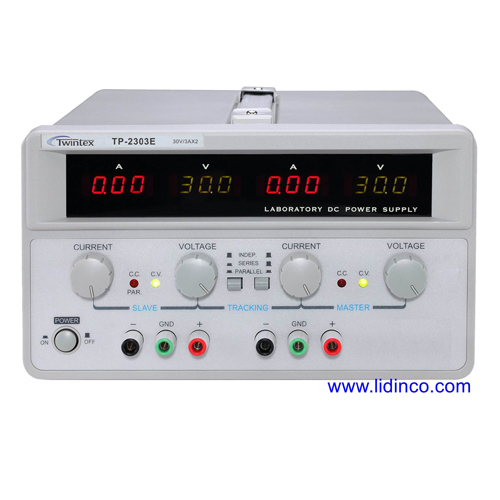 Nguồn một chiều (DC) Twintex TP 2305E, 02 ngõ ra, 30V5A
