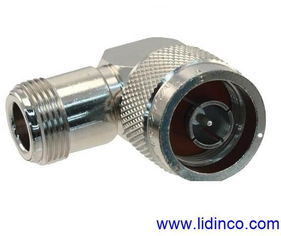RF Connector/Adapter Right Angle Adapter, N, Plug, N, Jack- 82-213 (UG-27C/U)