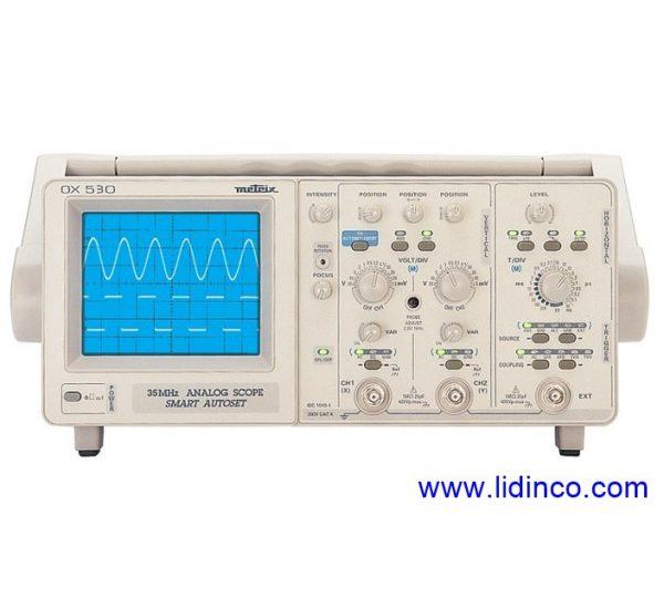 Máy hiện sóng tương tự (Analog) Metrix OX530, 30MHz, 2 kênh