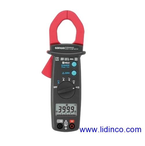 Đồng hồ kẹp, Ampe kìm đo dòng AC/DC Sanwa DCM400AD