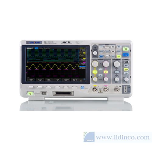 Máy hiện sóng, Oscilloscope Siglent SDS1102X+, 100Mhz, 2 CH, Waveform generator