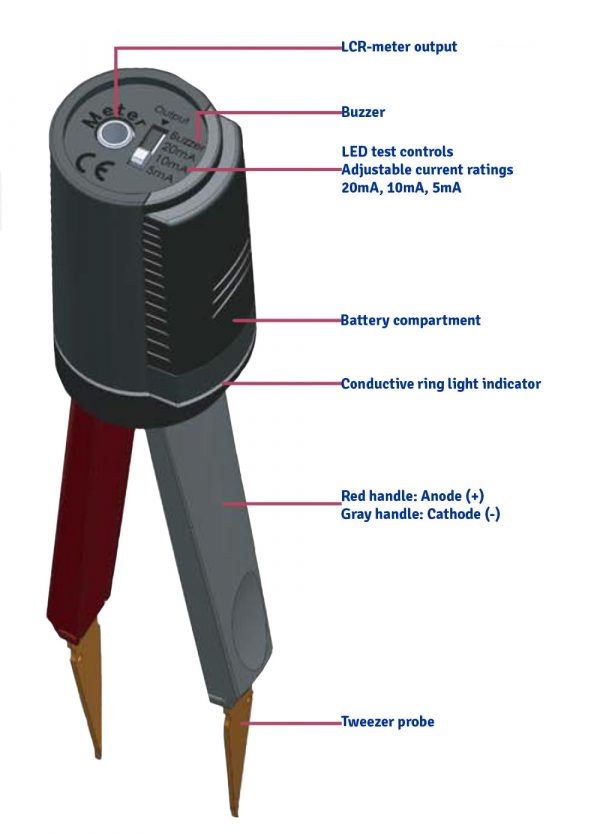 Nhíp thông minh ST5S-BT Colibri  đo RLC với Bluetooth and Receiver Stick 5