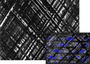 Cấu trúc vi mô của rãnh trên tấm mài phẳng