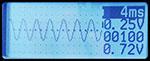 Chức năng hiển thị sóng của nhíp đo LCR
