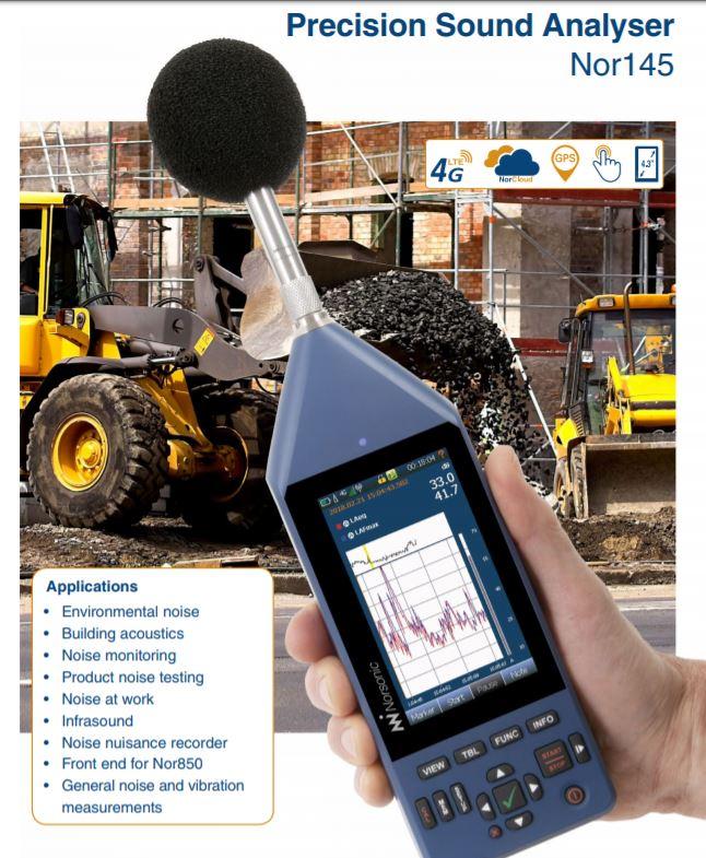Thông số kỹ thuật máy đo độ ồn Nor145