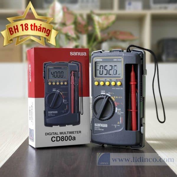 đồng hồ đo điện vạn năng sanwa cd800a