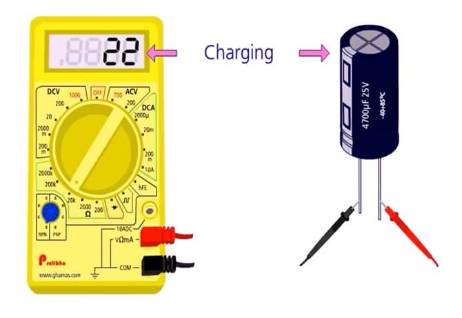 kiểm tra tụ điện bằng đồng hồ vạn năng số