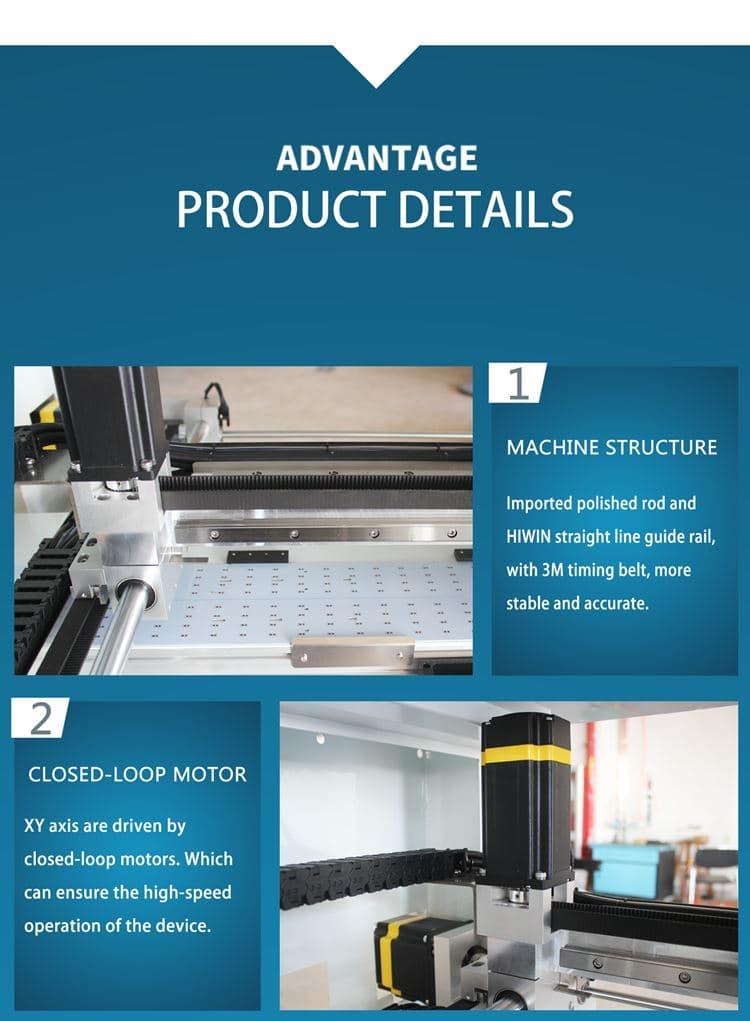 ưu điểm máy qihe QL41 smt pick and place machine