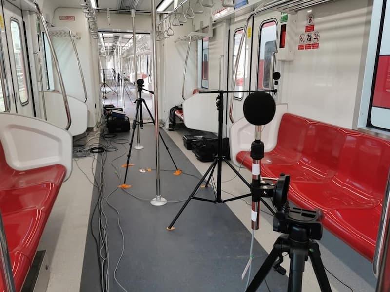 dịch vụ đo lường và kiểm tra độ ồn trên tàu điện