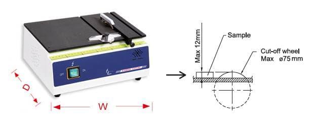máy cắt mẫu đĩa kim cương Top Tech Preciso-CH Series CH75